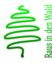 Raus in den Wald Logo